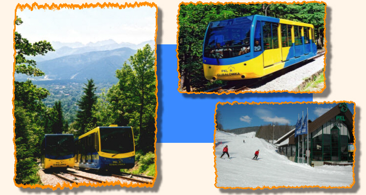 GUBALOWKA cable and ground railway Tatra Mountains Zakopane Poland